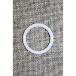 Plastring Gardin ring hvid 18 mm.-20