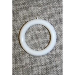Plastring Gardin ring hvid 20 mm.-20