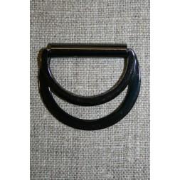 D-ring/spænde dobbel gun-metal, 30 mm.-20