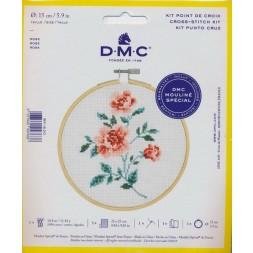 DMC Broderi kit 15 cm. Rose-20