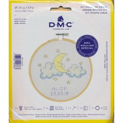 DMC Broderi kit 15 cm. Baby Måne-20