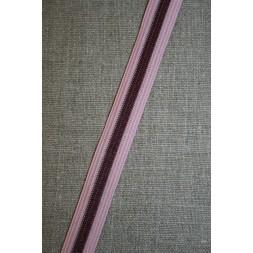 Stribet elastik rosa bordeaux-20