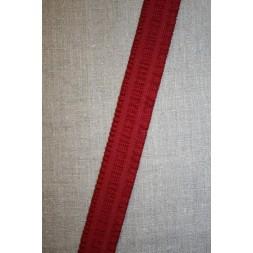 Elastik med flæse-kant, mørk rød 30 mm.-20