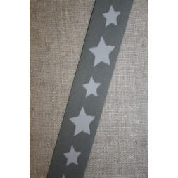 Elastik til undertøj 30 mm. med stjerner, grå-lysegrå-20