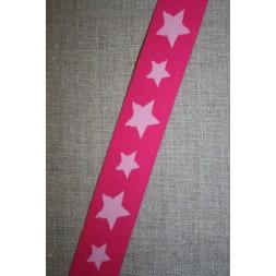 Elastik til undertøj 30 mm. med stjerner, pink-lyserød-20