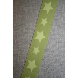 Elastik til undertøj 30 mm. med stjerner, lime-lys lime-20
