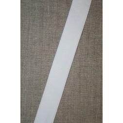 25 mm. elastik hvid blød blank-20
