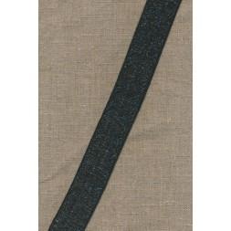 35 mm. koksgrå elastik transperant-20