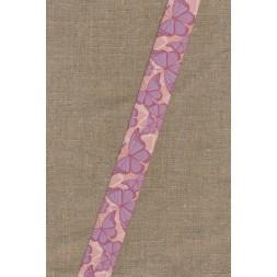 Elastik til undertøj 30 mm. rosa med sommerfugle-20