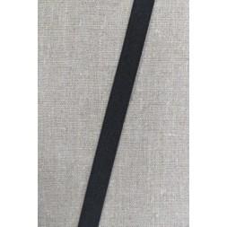 15 mm. elastik sort, kraftig-20