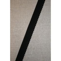 Elastik med buet kant, sort-20