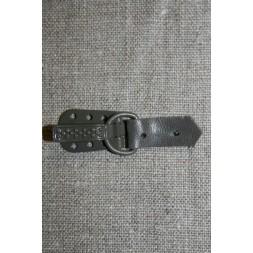 Pelshægt/lukning, grå-20
