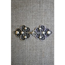 Hægt med blomst i gammel sølv-20