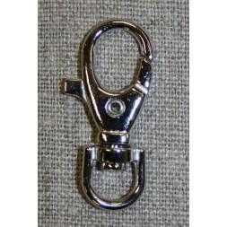 Karabinhage sølv 18x36 mm.-20