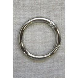Rund Karabinhage i sølv 40 mm.-20