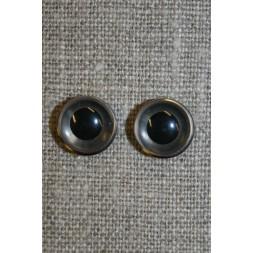 Bamse øje klar/sort 10 mm.-20