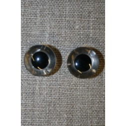 Bamse øje klar/sort 15 mm.-20