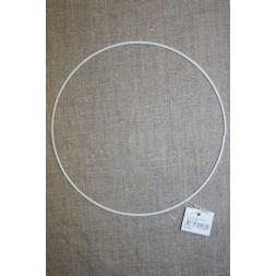 Metalring hvid 15 cm.-20