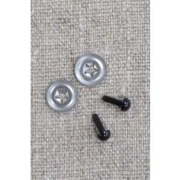 Bamse Øjne m/låsering/sikkerhedsøjne 4,5 mm. sort-20