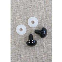 Bamse Øjne m/låsering/sikkerhedsøjne 18 mm. sort-20