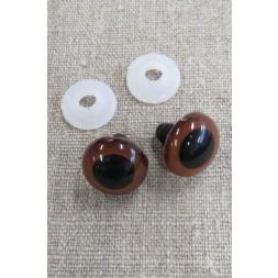 Bamse Øjne m/låsering/sikkerhedsøjne 18 mm. brun / sort-20