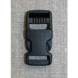 Klik spænde sort 15 mm.-20
