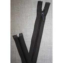 39 cm. delbar lynlås YKK mørkebrun-20