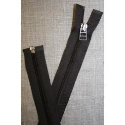 56 cm lynlås YKK mørk grå-brun-20