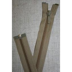 55 cm. delbar lynlås, YKK i lys oliven-20