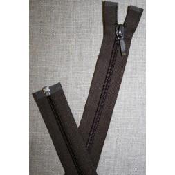 68 cm delbar lynlås YKK, mørkebrun-20