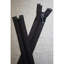 61 cm. delbar lynlås YKK, mørkebrun-20