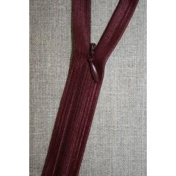 40 cm. usynlig lynlåse, bordeaux-20