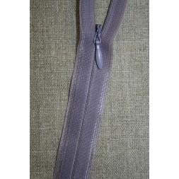 40 cm. usynlig lynlåse, lyselilla/lyng-20