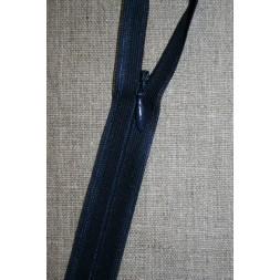 40 cm. usynlig lynlåse, marine blå-20