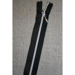 30-70 cm. delbar lynlås sort/sølv-20