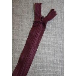 22 cm. usynlig lynlås, vinrød-20