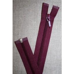 27 cm. delbar lynlås YKK, vinrød-20