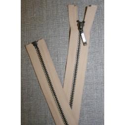 66 cm. delbar lynlås i metal, beige YKK-20