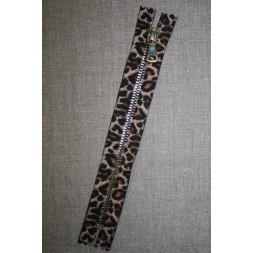 18 cm. lynlås metal leopard/guld-20