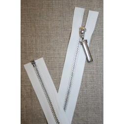 36 cm. delbar lynlås hvid m/stort sølv-vedhæng-20
