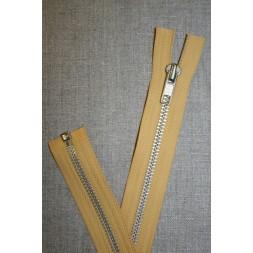 63 cm. metal lynlås støvet gul-20