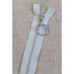 25 cm. lynlås 4 mm aluminium fast med ring i lysegrå-20