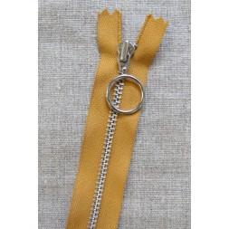 35 cm. lynlås 4 mm aluminium fast med ring i carry-20