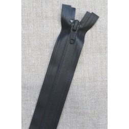 70 cm. vind/-vand afvisende delbar lynlås i sort fra YKK-20