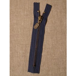 14 cm.lynlås i støvet blå oxyderet-20