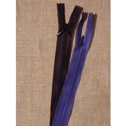 18 cm usynlig lynlåse klar blå-20