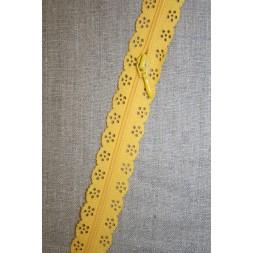Blonde-lynlås i metermål, gul-20