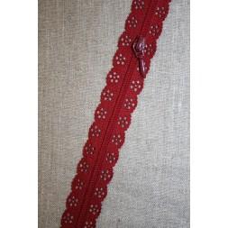 Blonde-lynlås i metermål, mørk rød-20