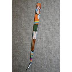 Pincet 15 cm. med pige orange-army-20