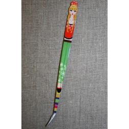 Pincet 15 cm. med pige rød-grøn-20